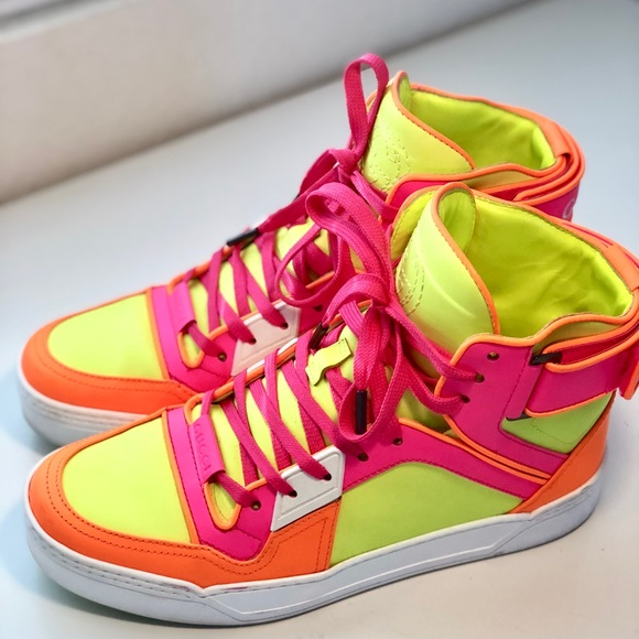 Gucci Shoes | Gucci Neon Pink Yellow